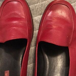 Easy Spirit Red Leather Shoes!